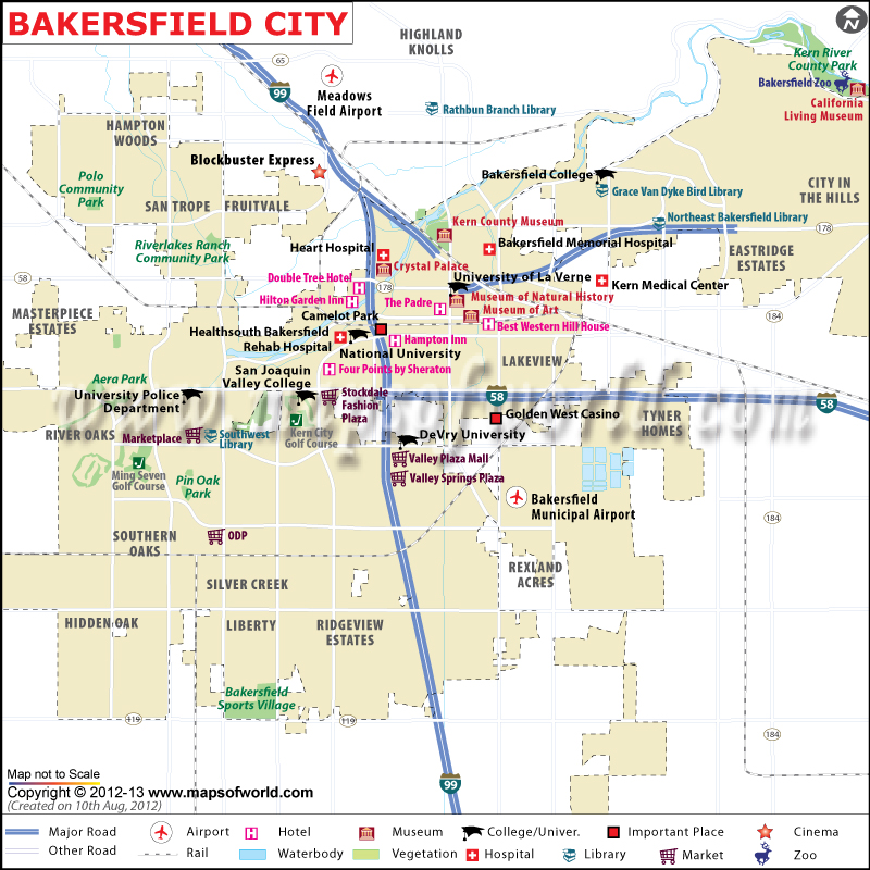 Bakersfield Zip Code Map Bakersfield City Map | Map of Bakersfield California