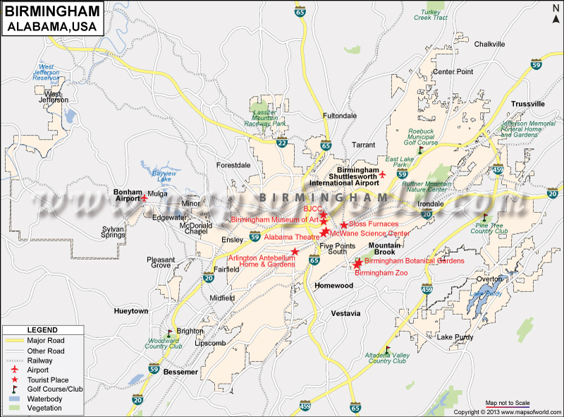 Birmingham Map City Map Of Birmingham Alabama - Alabama map usa