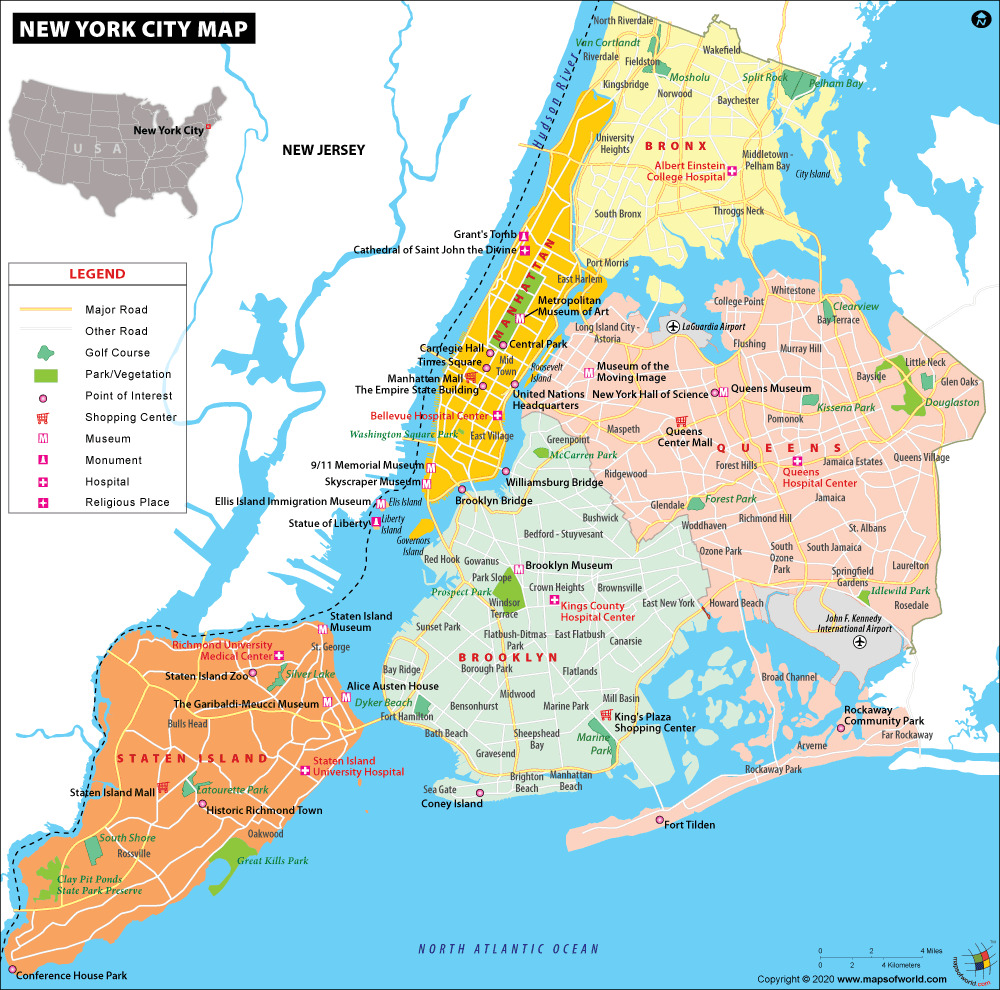 Mapa De New York.Nyc Map Map Of New York City Information And Facts Of New