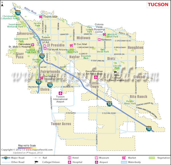 Tucson Map, Map of Tucson AZ, Tucson AZ Map