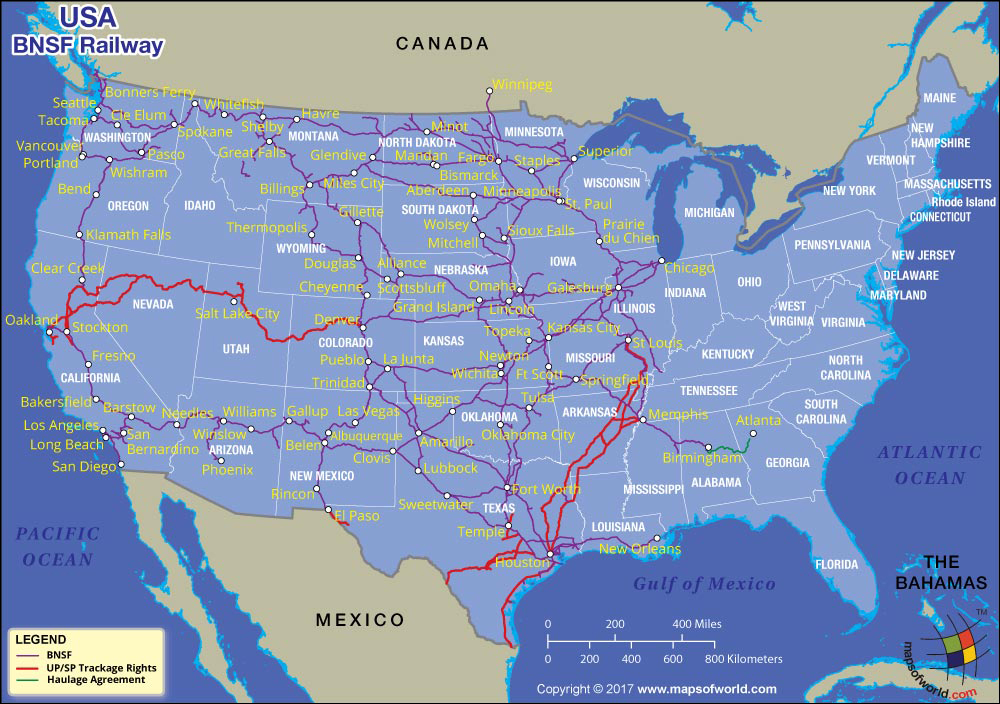 BNSF Railroad Map