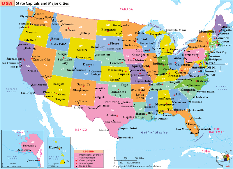 Major Us City Map US Map with States and Cities, List of Major Cities of USA