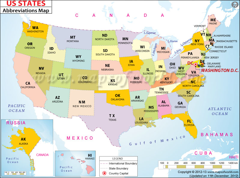 US State Map How Many States In USA States Map Names Labeled - Us map and state names
