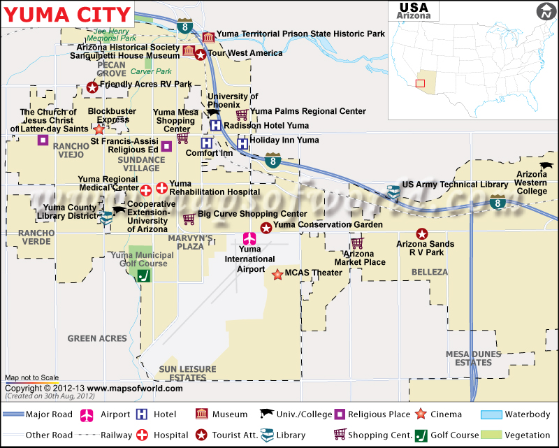 Yuma Map City Map Of Yuma AZ - State of arizona map with cities