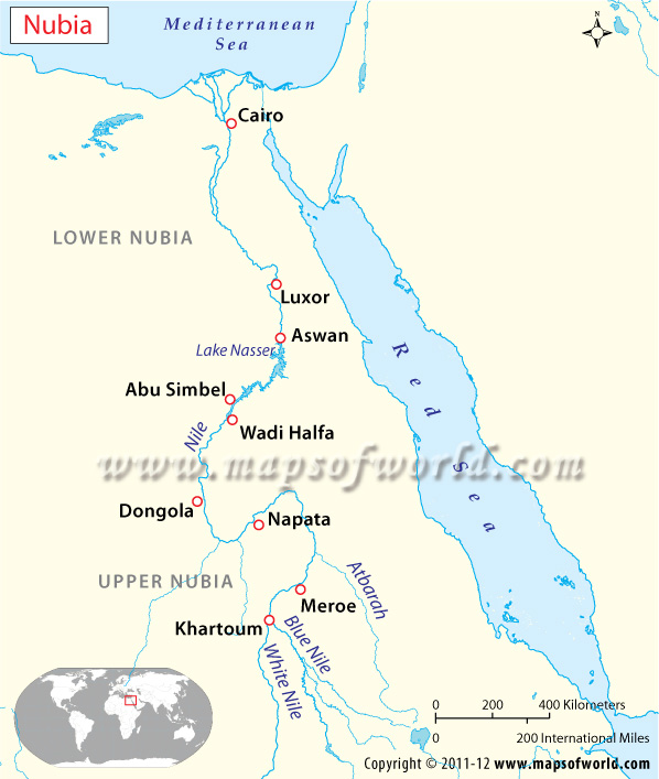 Nubia Map Ancient Nubia History - Map of egypt nubia