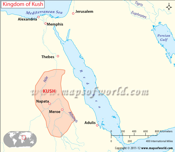 Kingdom of kush map kingdom of kush sciox Gallery