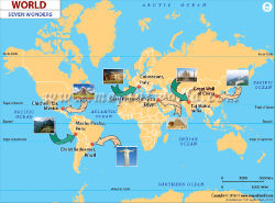 World travel maps seven wonders of the world gumiabroncs Gallery