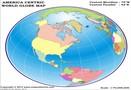 World Globe Map - America Centric