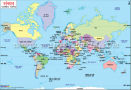 World Map in Hindi
