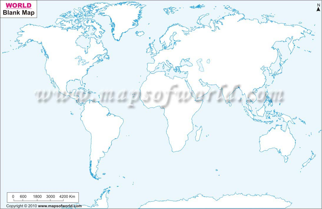 photo relating to Printable Blank World Maps for Students called Printable World wide Map BW and Coloured