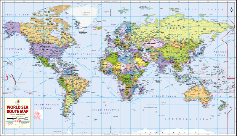 World searoues Map