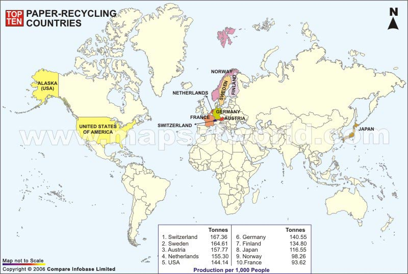 Paper recycling countries world top ten top ten paper recycling countries gumiabroncs Image collections
