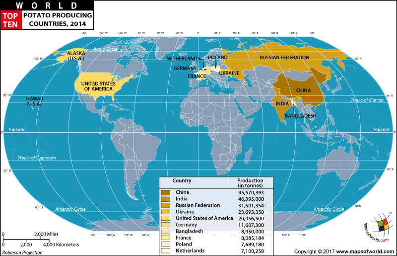 Top Ten Internet Usage Countries Map