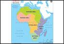 Africa Regions Map