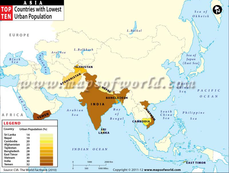 Not Asian population worldwide
