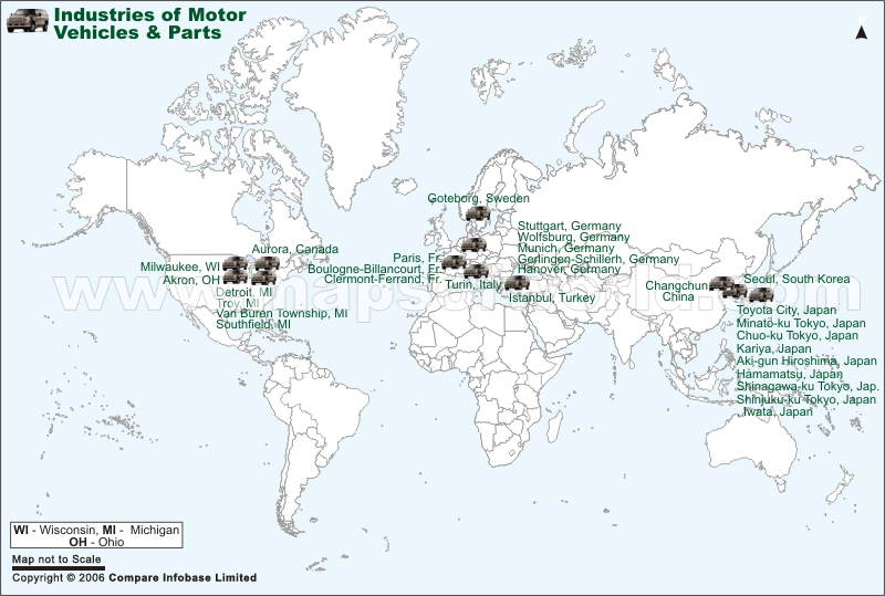 Motor Vehicles Parts Industry Map
