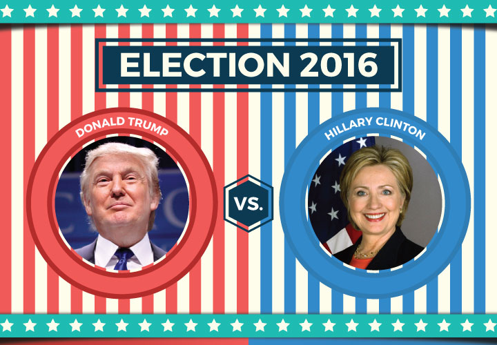 hillary vs trump infographic and facts. Black Bedroom Furniture Sets. Home Design Ideas