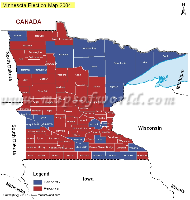 2014 us midelection red vs blue map