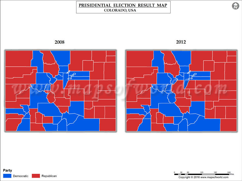 Colorado Election Results 2016 Map  Results By County