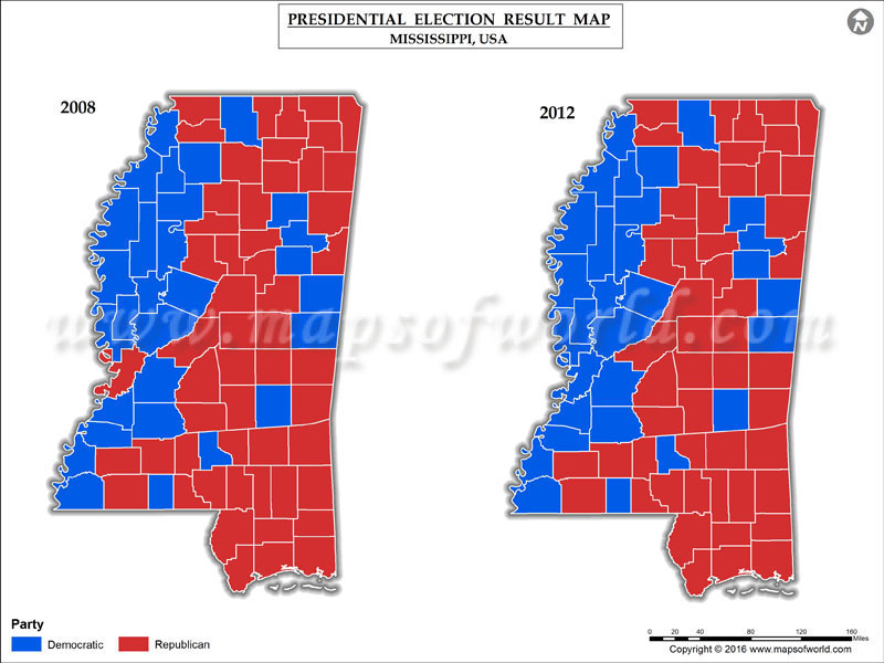 Mississippi Election Map Swimnovacom - 2016 election us map county