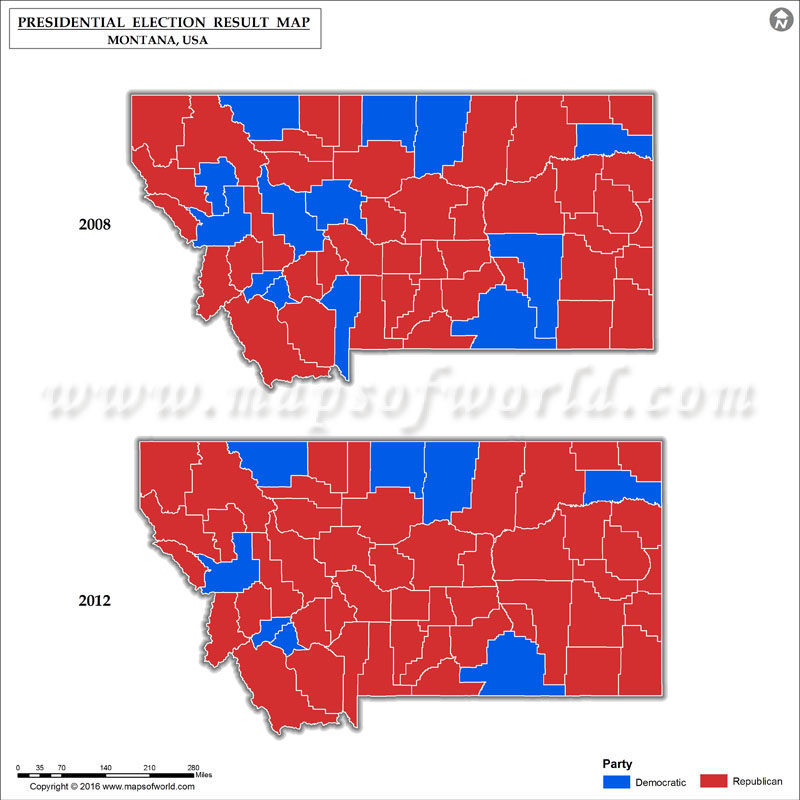 Montana Election Results 2016  Map County Results Live