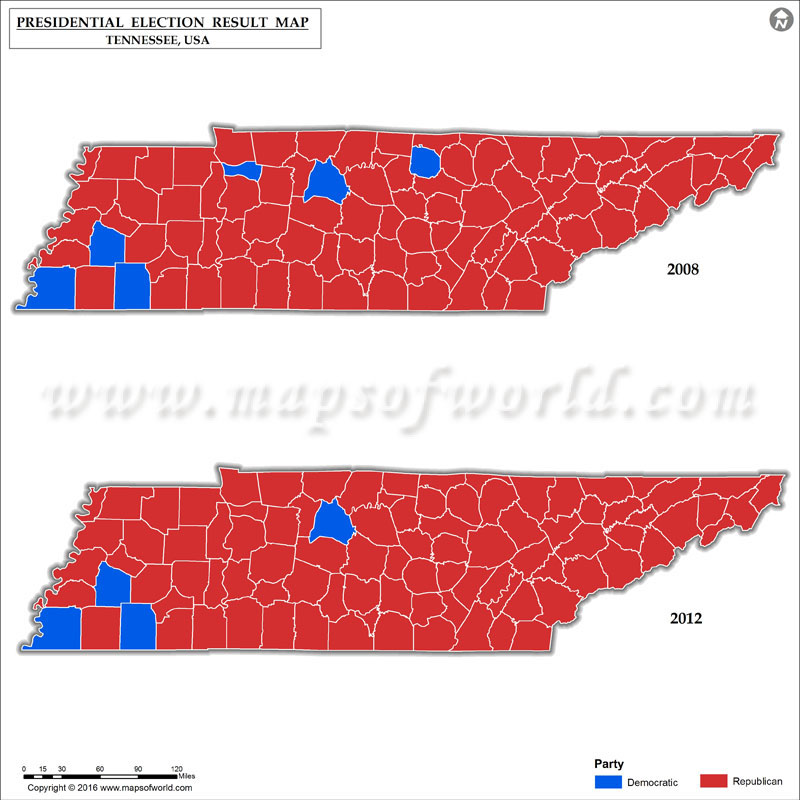 Tennessee Election Map Swimnovacom - 2016 election us map county