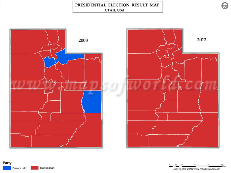 Election Results B 2016 Map County B Illinois B 2012 United States Presidential