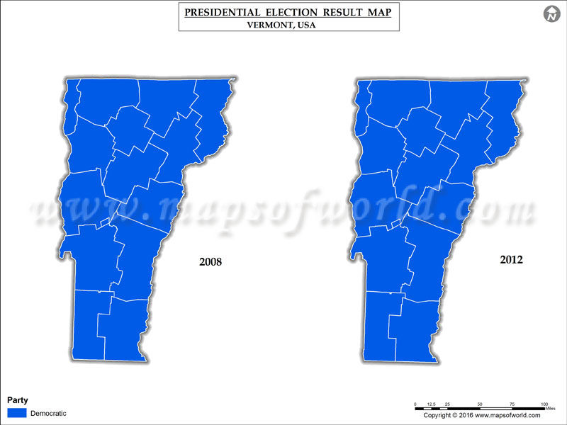 Vermont Election Results 2016 Map County Results Live
