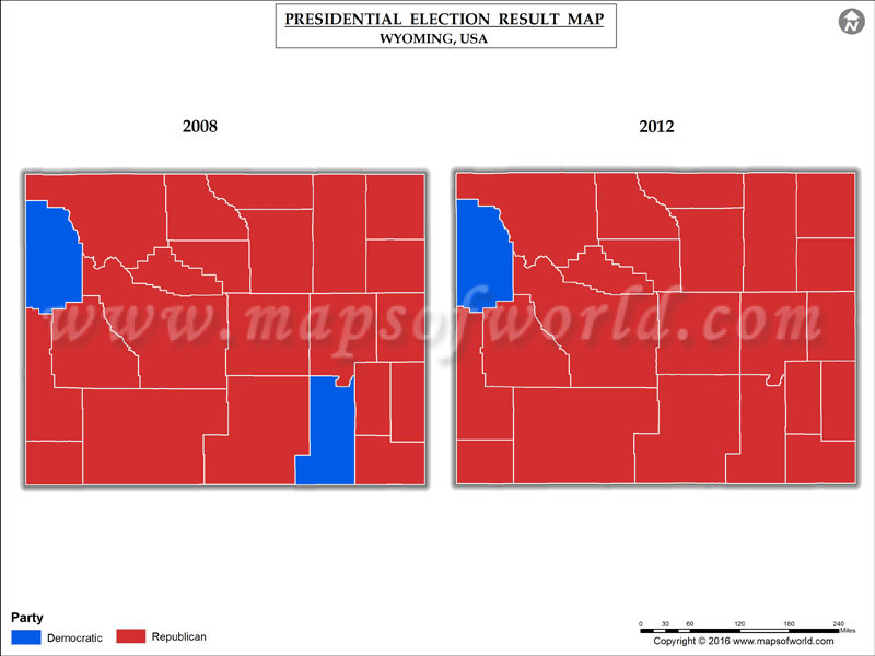 Wyoming Election Results 2016 - Map, County Results, Live ...