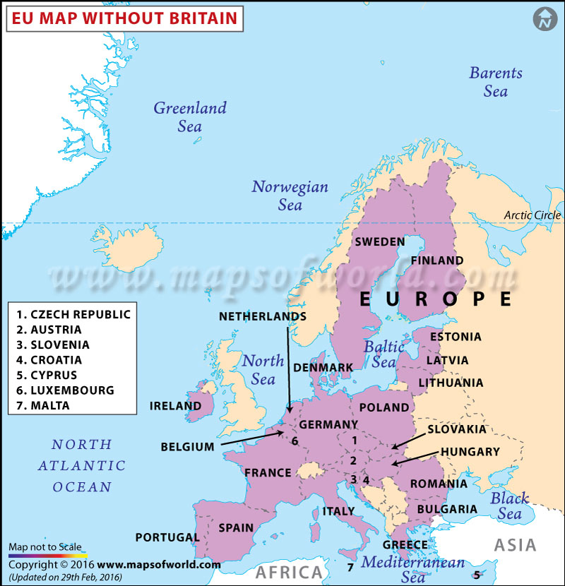 EU Map without Britain