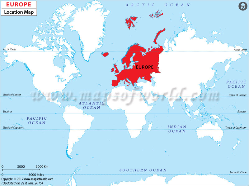 Where is Europe – Dubai Location in World Map