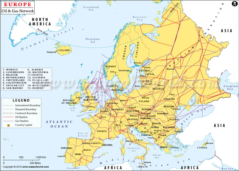 Europe Oil And Gas Network
