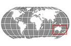 Oceania Globe Locator