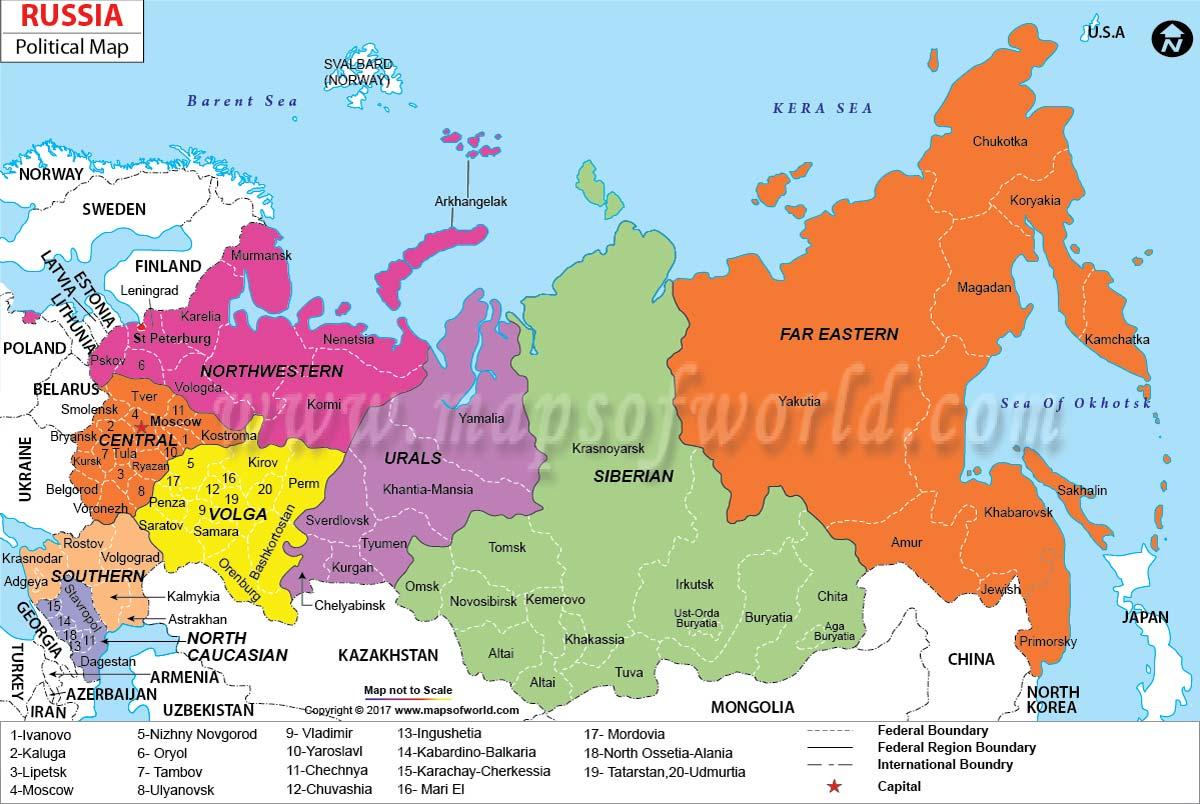 Russia to austraila maps
