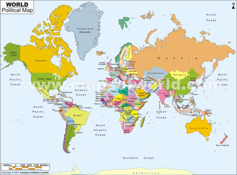 Map of world with countries world political map gumiabroncs Images