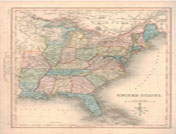 1839 -  Antique Map of US