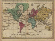 1811 - Antique World Map