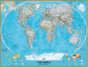 World Classic Wall Map, laminated
