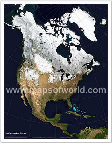 North America in Winter
