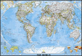 National Geographic world classic Wall Map