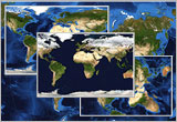 World Satellite Imagery Map