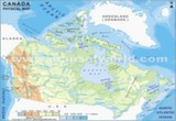 Physical Map of Canada