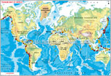 Tsunami Effected Areas on World Map