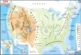 USA Physical Map