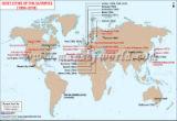World Map of Olympics Hosts Cities