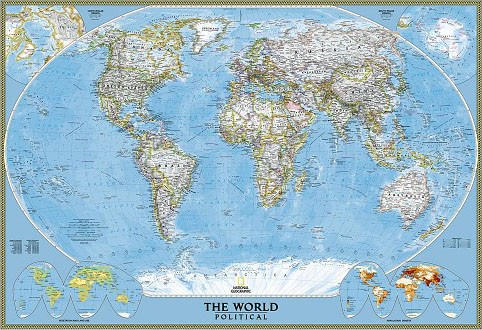 Decorative Wall Map of the World
