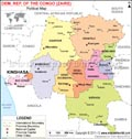 Democratic Republic Of Congo Political Map