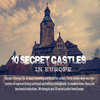 Infographic on 10 Secret Castles in Europe