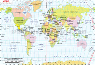 World Latitude and Longitude Map