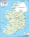Ireland Political Map
